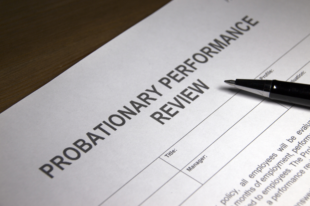Probationary Performance Review.